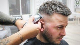 Short Choppy Haircut | Mens Textured Fade Haircut For Short Hair
