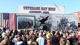 Veterans Day 2015 Korean War Mural Dedication