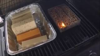 Smoked Cheese using Pellet Maze under Grill Cover