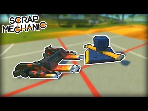 We Battled Battlebots with Other Battlebots in a Battle! (Scrap Mechanic Gameplay)