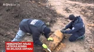 Nález bomby na Skládce Uhy - reportáž TV Nova