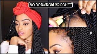 INDIVIDUAL, NO CORNROW CROCHET  BRAIDS FOR SHORT HAIR   SENEGALESE TWISTS   AFRICAN THREADING METHOD