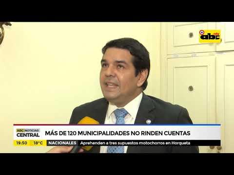 Más de 120 municipalidades no rinden cuentas