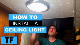 LED Ceiling Light Installation Flush Mount Project Source Fixture From Lowes DIY