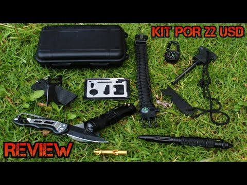 Kit De Supervivencia Muy Completo Por 22 USD!! ¿Vale La Pena? REVIEW