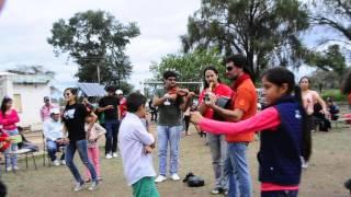 Alumnos de la escuelita El Desvío km 283 Santiago del Estero