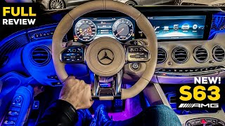 2020 MERCEDES AMG S63 Coupé V8 NEW FULL NIGHT AMBIENT Review S Class Interior 4MATIC+