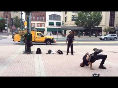 Live Break Dancing Downtown!