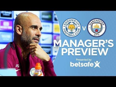 AGUERO IS FIT & READY | Leicester City v City | Press Conference | Premier League 2017-18