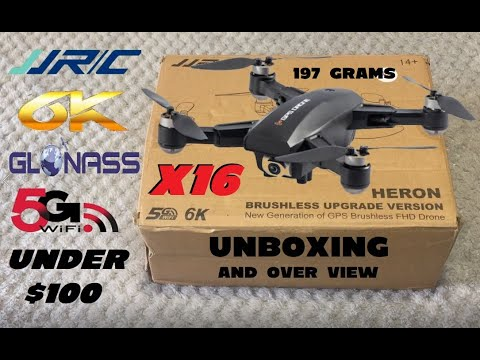 JJRC X16 HERON 6K CAMERA GPS DRONE UNBOXING + OVER VIEW