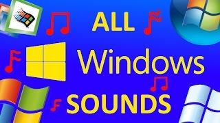 ALL MICROSOFT WINDOWS SOUNDS [WINDOWS 1-10]