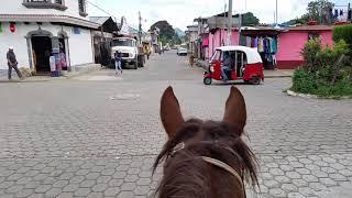 Riding thru San Andres Itzapa, Guatemala