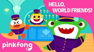Say Hello and Goodbye | Around the World with Baby Shark | Pinkfong Songs for Children