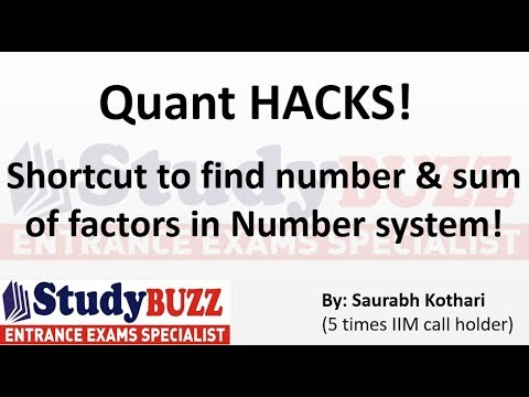 Quant HACKS- Shortcut to find number & sum of factors