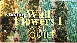 How To Sew An Art Quilt WF 1 | Plan & Lay Out Background | Zazus Tutorials