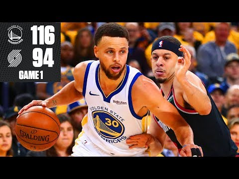 507c6cee3ff88f Steph Curry hits 9 3-pointers as Warriors win Game 1 vs. Trail Blazers | 2019  NBA Playoff Highlights