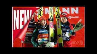 3位の伊藤有希、高梨沙羅が欠場表彰台スキー・ジャンプw杯