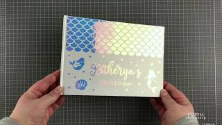 Holographic Mermaid Guest Book | Vinyl Stickers | Easy Cricut Vinyl Tutorial