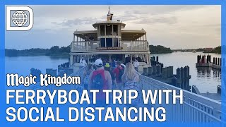 Ferryboat from the Magic Kingdom with New Social Distancing