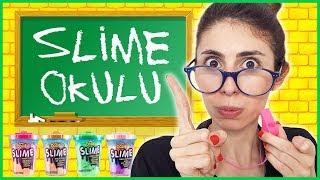 Slime Okulu Öğretmen Öğrenci Okulda Slaym Nasıl Yapılır Eğlenceli Çocuk Videosu Dila Kent