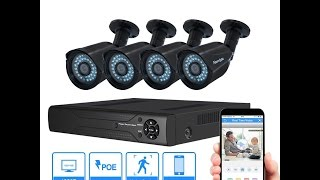 Abowone 1080P POE security  camera system Unboxing and Review