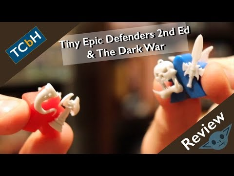 The Cardboard Herald reviews: Tiny Epic Defenders 2nd ed & The Dark War