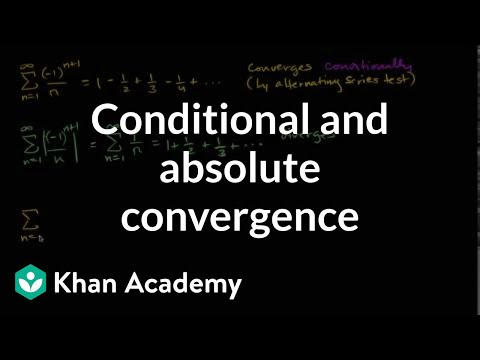 how to find conditional convergence