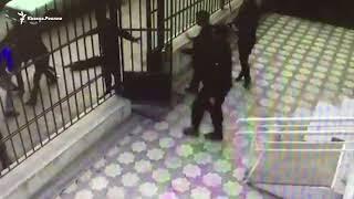 Массовая драка у здания суда в Дагестане
