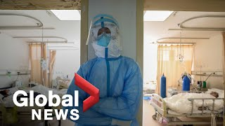 Health officials around the world are scrambling as cases of COVID-19 surge in Europe, Asia and the Middle East. There are also new fears the incubation period is much longer than originally thought.   Heather Yourex-West reports on what that means for quarantined Canadians, as hopes to keep the virus contained fade.   For more info, please go to https://globalnews.ca/news/6584683/china-covid-19-coronavirus-deaths/ Subscribe to Global News Channel HERE: http://bit.ly/20fcXDc Like Global News on Facebook HERE: http://bit.ly/255GMJQ Follow Global News on Twitter HERE: http://bit.ly/1Toz8mt Follow Global News on Instagram HERE: https://bit.ly/2QZaZIB #COVID-19 #coronavirus #ChinaCoronavirusOutbreak #Virus #health #GlobalNews