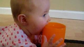 licking daddy's cup