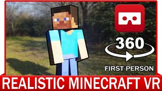 360° VR VIDEO - REALISTIC MINECRAFT VR - VIRTUAL REALITY 3D