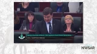 MLA for Peace River asking about caribou plans in regards to economic activity