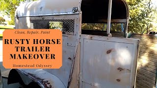 Clean With Me! Horse Trailer Clean Out, Repair, And Makeover!