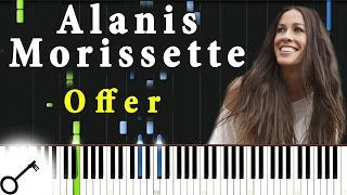 Alanis Morissette - Offer [Piano Tutorial] Synthesia   passkeypiano