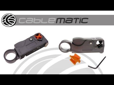 Herramienta Peladora Cable Coaxial RG58/59 (BNC/N/SMA) distribuido por CABLEMATIC ®