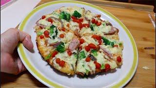 懒人版平底锅披萨,用最简单食材做的一款美味披萨,做法简单快速