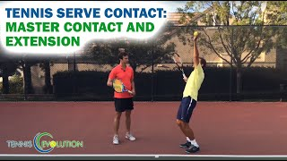 Tennis Serve Contact Point   How And Where To Make Contact With The Ball