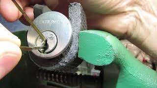 SCHLAGE SECURITY DEADBOLT DOOR LOCK UNLOCKED USING BOBBY PINS HAIR CLIPS SPP