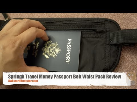 Springk Travel Money Passport Belt Waist Pack Review