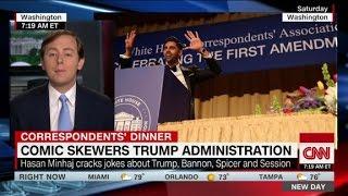 Comedy, politics collide as Trump skips event