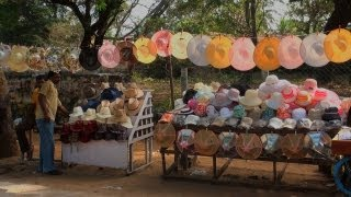 Stree shops for hats, Mahabalipuram Town