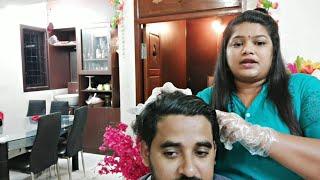 Husband ಹೊಸ Look |Chocolate Brown Hair Colouring At Home 2019|PriyasFamilyVlogReborn