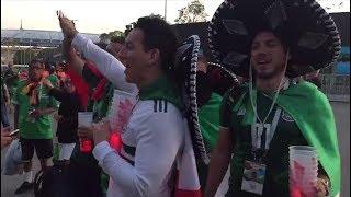 Мексиканцы празднуют победу над Германией