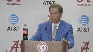 "Nick Saban speaks passionately about ""The Process"" and players earning positions"
