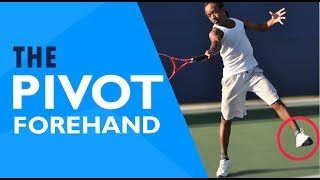 Tennis FOOTWORK | The Forehand PIVOT (Slow Motion Tutorial)