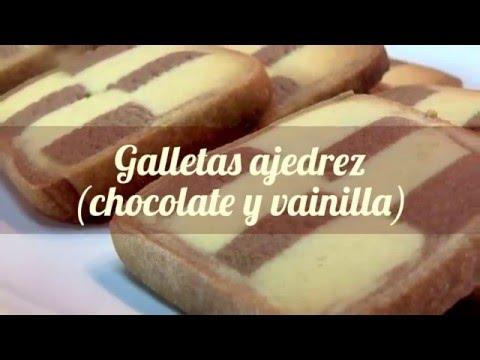 Galletas ajedrez (chocolate y vainilla) fáciles - MenuInventamos
