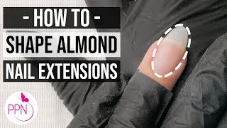 How To Shape Gel Nails Almond