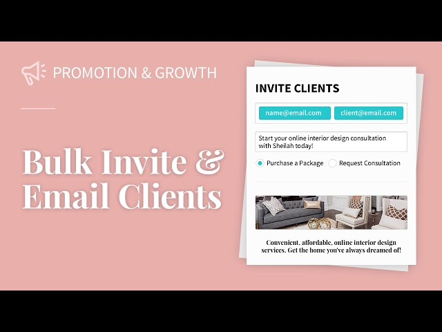 Bulk Invite and Email Clients