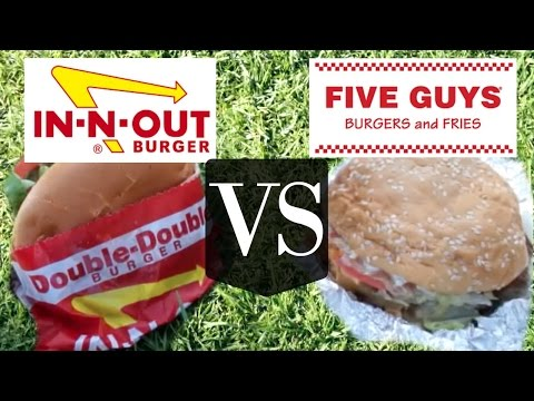 In N Out VS Five Guys | Versus BURGER edition
