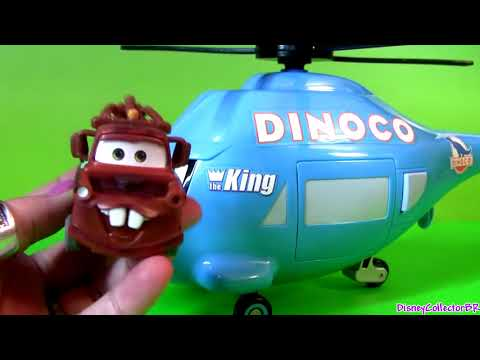 Disney Pixar Cars Talking Dinoco Helicopter Transporter Rotor Turbosky